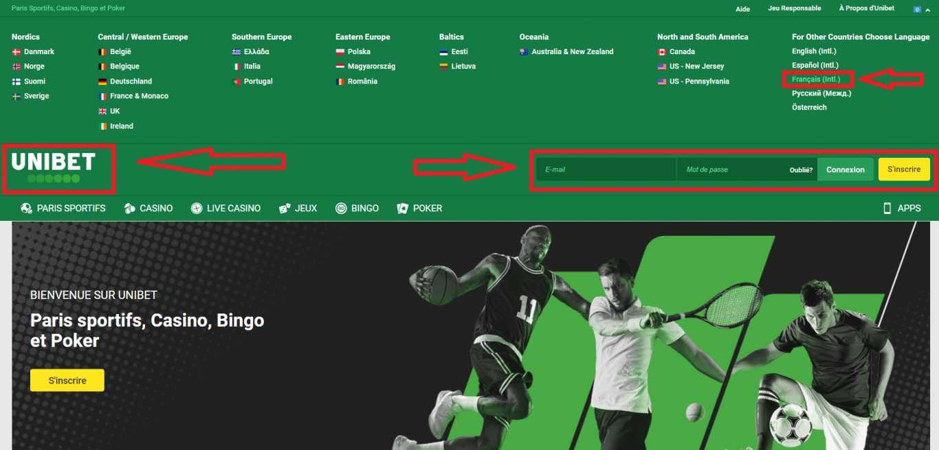 Inscription sur Unibet pour les paris sportifs rentables